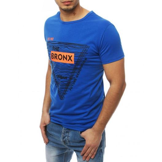 Moderné tričko s krátkym rukávom modrej farby