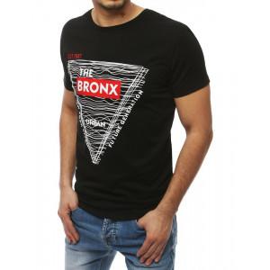Originálne tričko čiernej farby s okrúhlym výstrihom
