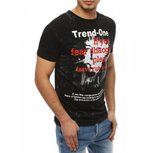 Trendové pánske letné tričko s krátkym rukávom a potlačou