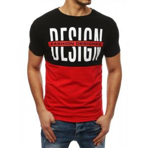 Dvojfarebné pánske tričko s nápisom DESIGN