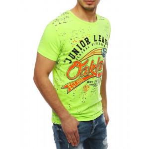 Letné pánske tričko v zelenej farbe s potlačou