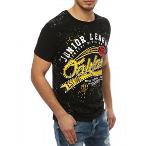 Lacné pánske tričko v čiernej farbe s krátkym rukávom