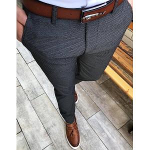 Štýlové pánske spoločenské nohavice v pohodlnom strihu