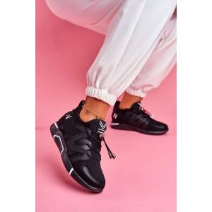 Čierne tenisky slip on s bočným zipsom a nápisom fashion