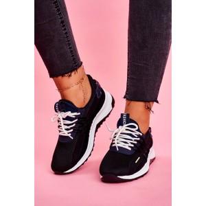 Dámske čierne tenisky sneakersy