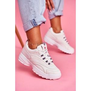 Moderné dámske biele tenisky na platforme