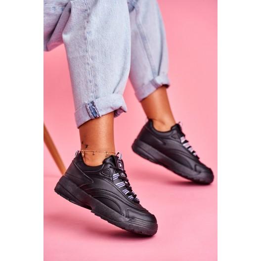 Čierne dámske nasúvacie tenisky na platforme