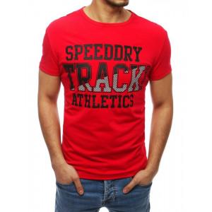 Červené tričko s potlačou pre pánov