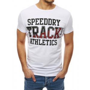 Originálne pánske tričko v bielej farbe s nápisom