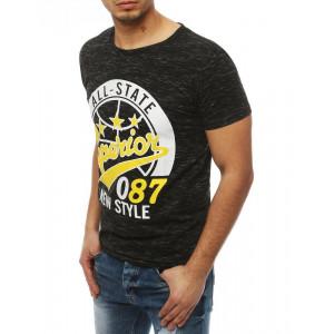 Športové pánske tričko v čiernej farbe s krátkym rukávom