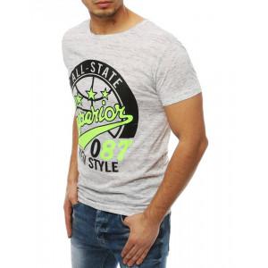Biele pánske tričko s potlačou a krátkym rukávom