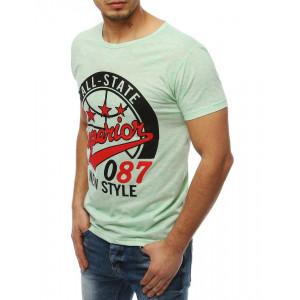 Pánske tričko s potlačou v zelenej farbe