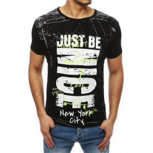 Štýlové tričko s krátkym rukávom v čiernej farbe