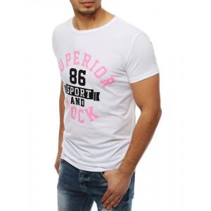 Originálne tričko s nápisom v bielej farbe