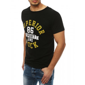Pánske tričko na leto v čiernej farbe
