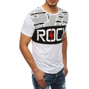 Pánske tričko s nápisom v bielej farbe