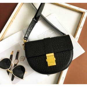 Perfektná dámska čierna crossbody kabelka s haďou potlačou