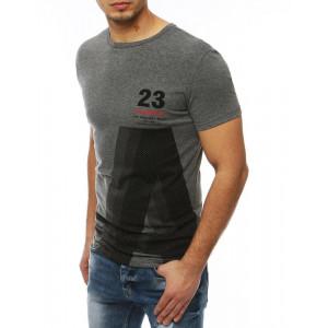 Pánske tričko na leto s krátkym rukávom v sivej farbe