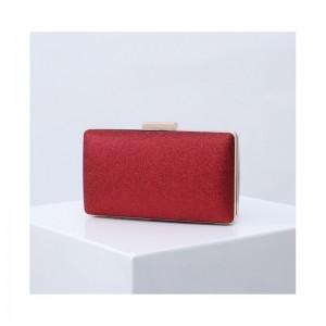 Červená dámska listová kabelka do spoločnosti