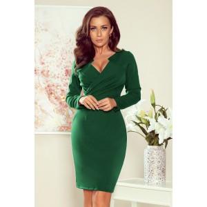 Dámske zelené elegantné šaty zvýrazňujúce postavu