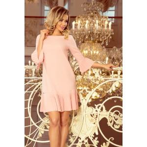 Romantické dámske ružové šaty nad kolená