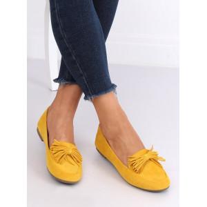 Letné dámske mokasíny v žltej farbe