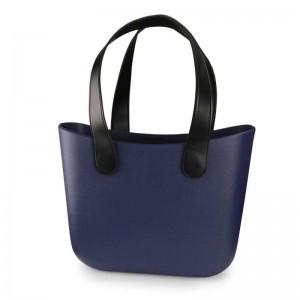 Moderná dámska modrá gumená taška na pláž