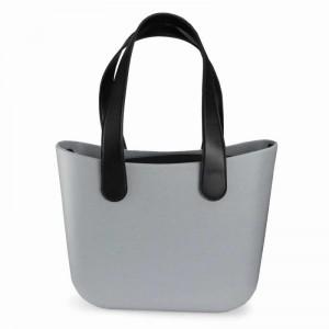 Štýlová dámska sivá gumená taška shopper bag