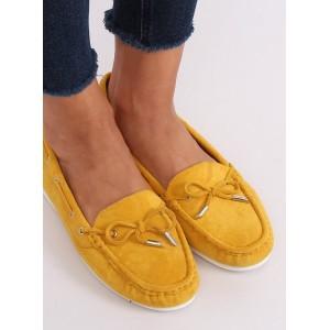 Žlté dámske pohodlné mokasíny v žltej farbe