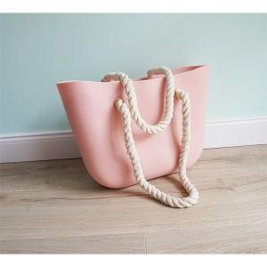 Krásna dámska ružová plážová gumená kabelka kolekcia JELLY