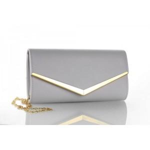Štýlová dámska sivá listová kabelka