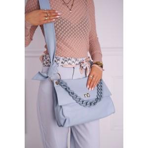 Modrá shopper kabelka znaćky NOBO s designovou rúčkou