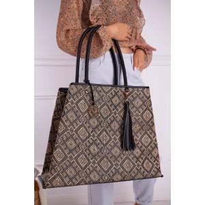 Originálna veľká vzorovaná shopper kabelka s logom NOBO