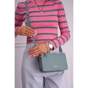 Malá dámska zelená crossbody kabelka s logom NOBO