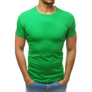Jednofarebné pánske tričko zelenej farby