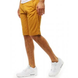 Letné pánske kraťasy v žltej farbe