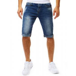 Letné pánske džínsové kraťasy so zipsom
