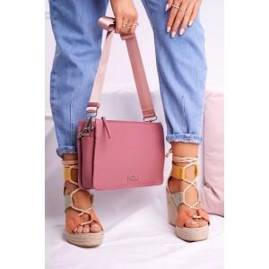 Jednofarebná dámska ružová crossbody kabelky NOBO