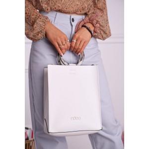 Nadčasová dámska biela shopper kabelka NOBO