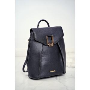 Elegantný dámsky čierny ruksak MONARI so zlatým kovaním