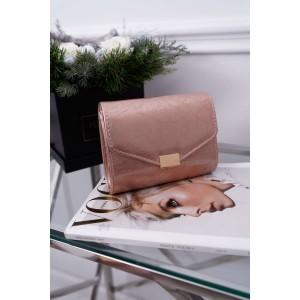Ružová dámska lakovaná listová kabelka