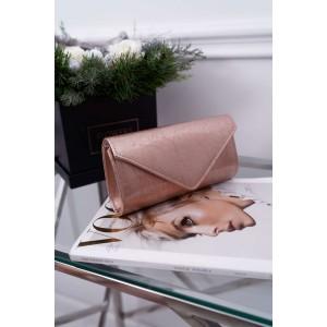Originálna ružová lakovaná listová kabelka popraskaného designu