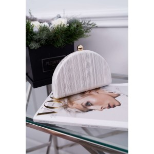 Designová dámska bielo strieborná listová kabelka