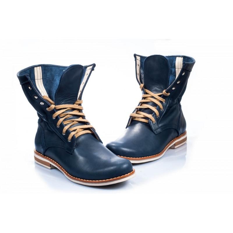 Predchádzajúci. Pohodlné dámske kožené topánky modrej farby ... 3e3895c53cf
