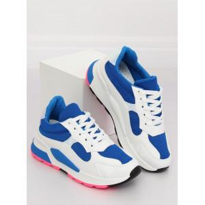 Dámska šnurovacia športová obuv modrej farby