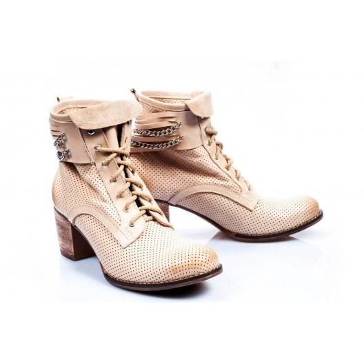 2d4ad6bec374 Dámske kožené topánky béžovej farby - fashionday.eu