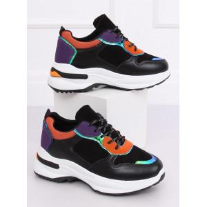 Trendová dámska športová obuv čiernej farby