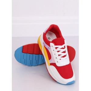 Farebná dámska športová obuv na pružnej podrážke