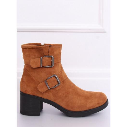 Hnedé dámske členkové topánky podšité jemnou kožušinou