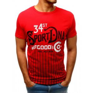 Športové červené pánske tričko na leto